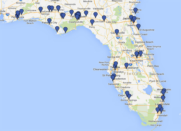 Map Of Upper Florida.A Community Cloud The Northwest Regional Data Center Educause