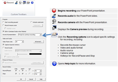 Creating a PowerPoint Screencast Using Camtasia Studio