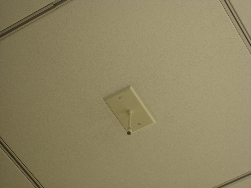 45. Tiny ceiling microphone