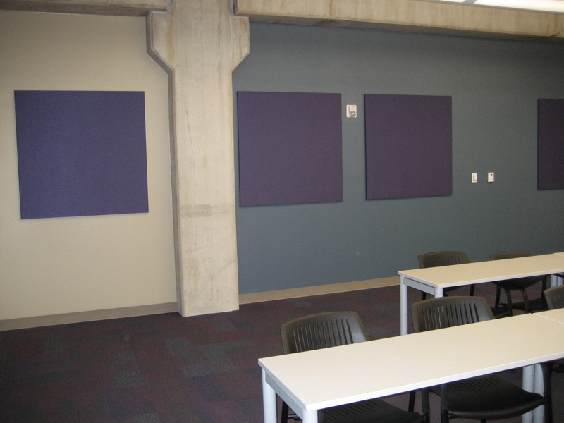 34. Sound-absorbent wall panels