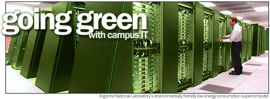 Argonne National Laboratory's environmentally friendly low energy consumption supercomputer
