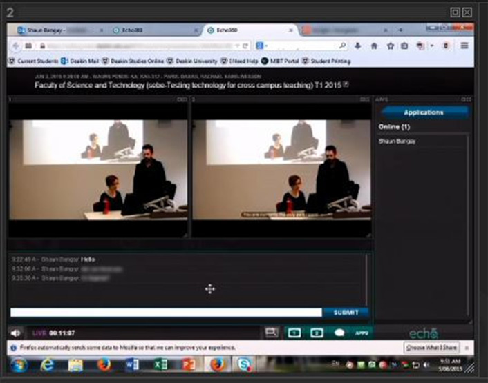 Live-streaming technology at Deakin University