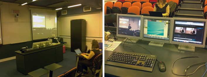 Deakin University's podium system in a lecture theater