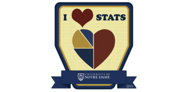 Figure 1. I Heart Stats digital badge; click on the badge image to see the metadata (description, criteria, and recipients)