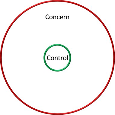 Figure 2. Covey's circles of control