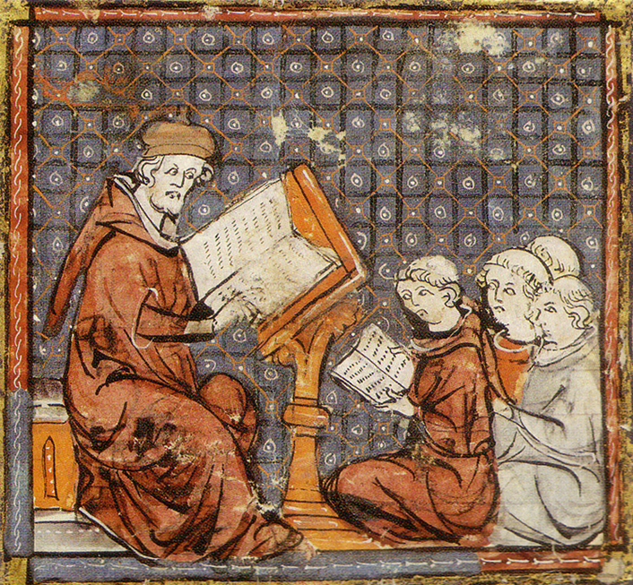 Figure 2. Image of a medieval philosophy lesson