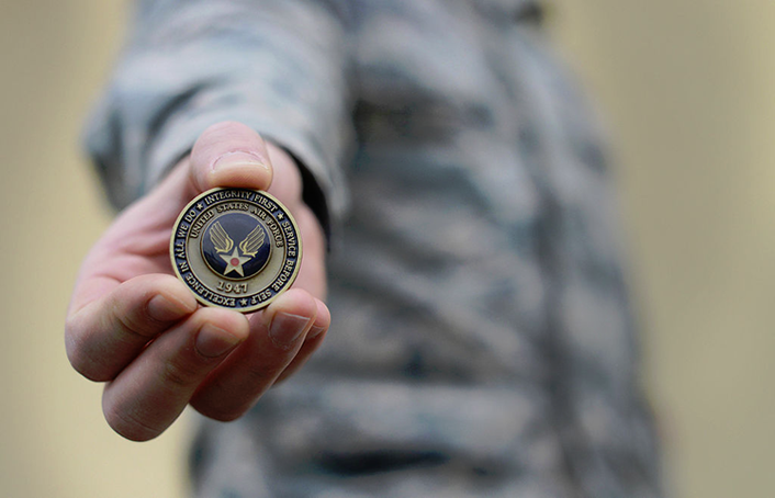 Figure 5. Airman's coin, 2015