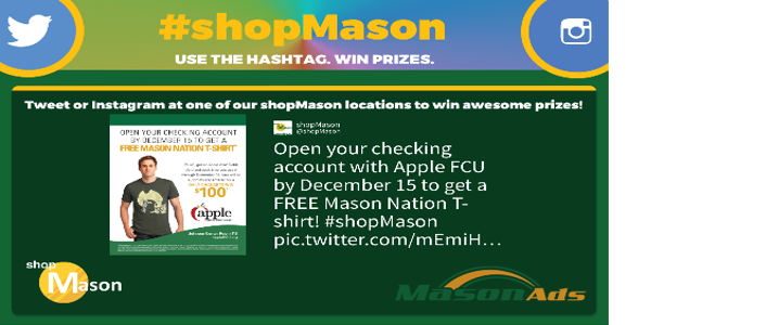 Figure 2. Typical #shopMason ad