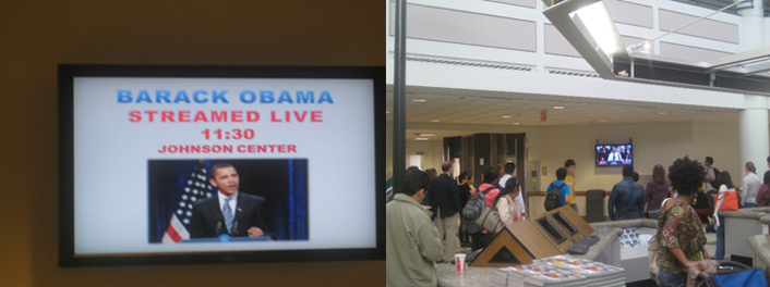Figure 3. A livestream of President Obama's healthcare address at George Mason