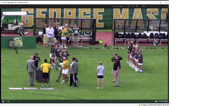 Figure 4. Livestream of Mason women's lacrosse game