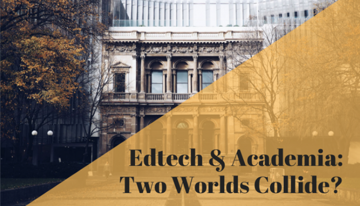 Edtech + Academia: Two Worlds Collide - photo of old building with columns