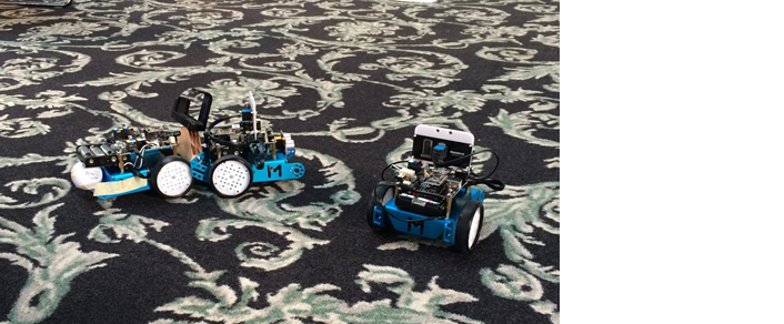 picture of two small robotic vehicles