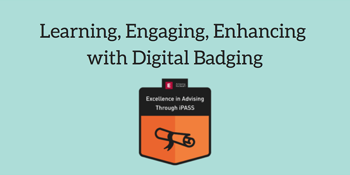 digital badge icon and blog title